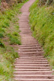 Steps cut into hill side Royalty Free Stock Images