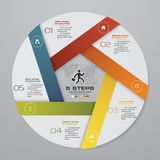 5 steps cycle chart infographics elements. EPS 10. Abstract 5 steps cycle chart infographics elements. EPS 10. For data presentation vector illustration