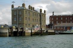 Steps de rey, base naval de Portsmouth Foto de archivo