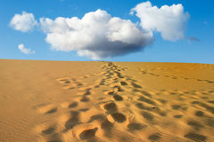 Steps desert sand Royalty Free Stock Photography