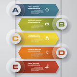 5 steps design clean number banners template/graphic or website layout. Vector. EPS 10 Vector Illustration