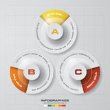 3 steps design Infographic template for business concept. EPS10 Stock Photography