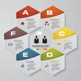6 steps diagram for your design.Design clean template. 6 steps diagram for your design.Design clean template/graphic or website layout Royalty Free Illustration