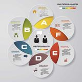 6 steps diagram for your design.Design clean template. Royalty Free Stock Images