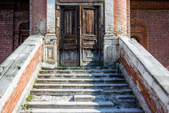 Steps and door, Krutitskoe Mission, Moscow Stock Photos