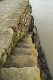 Steps down from Saint Andrews Harbour wall Stock Photos