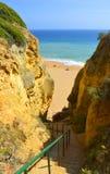 Steps down to Senhora Da Rocha Nova Beach Royalty Free Stock Photo