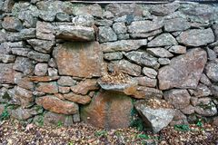 Steps in Dry Stone Wall Royalty Free Stock Photo