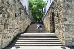 Steps of El Conde Street, Santo Domingo, Dominican Republic Royalty Free Stock Image