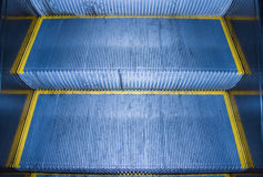 The steps of the escalator. In the metro Stock Photos