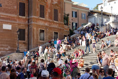 Steps espagnole Piazza di Spagna Images libres de droits