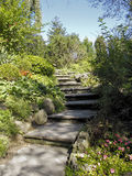 Steps through floral garden Royalty Free Stock Photography