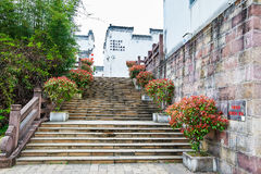 The steps and folk houses Royalty Free Stock Images