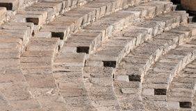 Steps form Kourion amphitheater Royalty Free Stock Image