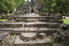 Steps in front of ancient temple in Angkor Wat Stock Images