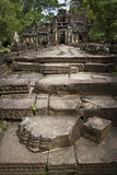 Steps in front of ancient temple in Angkor Wat Royalty Free Stock Photography