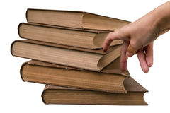 Steps in gaining knowledge from books Stock Image
