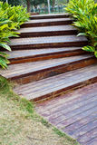 Steps in garden Royalty Free Stock Image