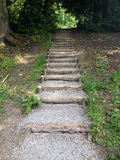 Steps. In the gardens of a stately home in England Stock Images