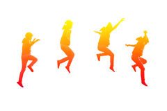 Steps of girl jumping Stock Photos