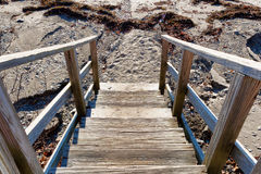 Steps going down to beach Royalty Free Stock Photography