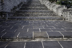Steps of the Great Wall. Qinhuangdao, Hebei Province Royalty Free Stock Images