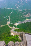Steps of the Great Wall. Photo of the Chineese Great Wall in summer. It is segment of Wall near the Beijing(Pekin), China Stock Photos