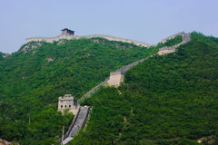 Steps of the Great Wall. Photo of the Chineese Great Wall in summer. It is segment of Wall near the Beijing(Pekin), China Stock Photo