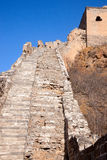 Steps,greatwall. The steps of the Great Wall Royalty Free Stock Photo