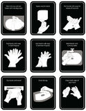 9 steps of hand wash procedure for hygiene in  illustratio Royalty Free Stock Photos