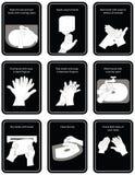 9 steps of hand wash procedure for hygiene in illustratio. N Vector Illustration