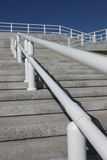 Steps and Handrail. Are shooting in the noon Stock Photography