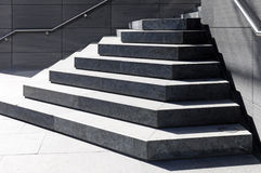 Steps and handrails Stock Photo