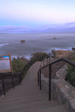 Steps from Heisler Park leading down to the sand Royalty Free Stock Image