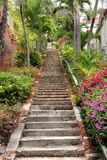 99 Steps. Historic 99 steps on St. Thomas in the US Virgin Islands Stock Photo