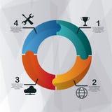 Steps icons desig Stock Image