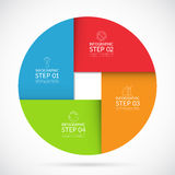 4 steps infographic circle template in material style Royalty Free Stock Photography