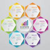 6 steps infographic element chart for data presentation. Abstract 6 steps infographic element chart for data presentation. EPS 10 royalty free illustration