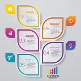 5 steps infographic element chart for data presentation. Abstract 5 steps infographic element chart for data presentation. EPS 10 stock illustration