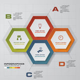 4 steps Infographic report template layout. Vector illustration EPS 10 stock illustration