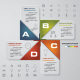 4 steps Infographic report template layout. Vector illustration EPS 10 Royalty Free Stock Images