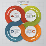 4 steps Infographic report template layout. Vector illustration EPS 10 Royalty Free Stock Image