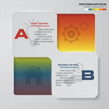 2 steps Infographic report template layout. Vector illustration. 2 steps Infographic report template layout. Vector illustration EPS 10 stock illustration