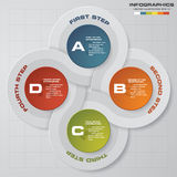 4 steps Infographic report template layout. Vector illustration. 4 steps Infographic report template layout. Vector illustration EPS 10 Royalty Free Stock Photography