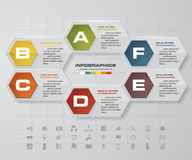 6 steps Infographic report template layout. Vector illustration. EPS 10 royalty free illustration