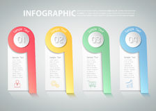 4 steps infographic template. can be used for workflow, layout, diagram Stock Images