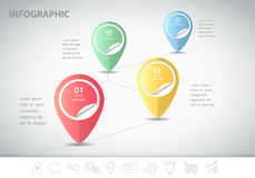 4 steps infographic template. can be used for workflow layout, diagram Stock Photo