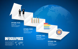 4 steps infographic template. can be used for workflow layout, diagram Royalty Free Stock Images