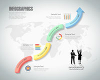4 steps infographic template. can be used for workflow layout, diagram Stock Photos