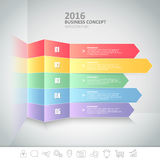 5 steps infographic template. can be used for workflow layout, diagram Stock Photo